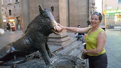 Florence, lucky boar statue (vbolinius) Tags: 2016 boar carolynjurek florence italy travel