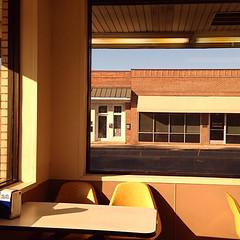 diner (Lisa Toboz) Tags: northcarolina roadtrip diner whataburger yellow naturallight