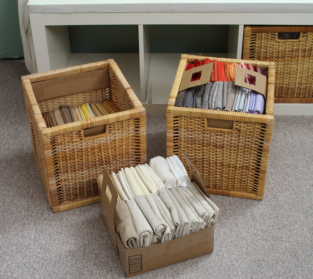 The world 39 s best photos of ikea and storage flickr hive mind for Fabric drawers ikea expedit
