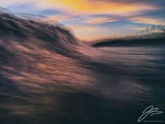 TRANSVERSE XXI (Justin Bartels) Tags: motion wave waves sunset pacific ocean water movement slowshutter