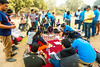 Accessible Tour of Qutub Minar: The group enjoying the picnic in the premises. (Planet Abled) Tags: qutub