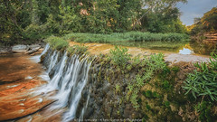 Where falls have no name (Rajesh Jyothiswaran) Tags: water waterfall waterfalls sunset green creek greenery sky austin texas