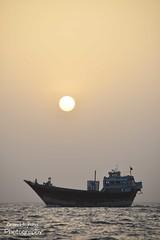 The Setting Sun of July 28 (Aoon Mujtaba) Tags: ajman dubai uae nikon photography fishing setting sun