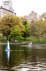 Conservatory Pond in Central Park, NYC DSC02282 (nianci pan) Tags: nyc newyork newyorkcity manhattan nature landscape cityscape lake pond river water city urban park garden tree centralpark spring sony sonyalphadslr sonyphotographing nianci pan boat sailboat