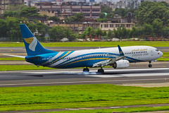 Touchdown (FoxbatOne) Tags: oman omanair airlines 737 boeing airliner touchdown burning rubber tyres airplane b737 738