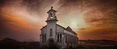 Chapelle Sainte Therese (Jerome Pouysegu) Tags: ocean sunset church soleil ruin coucher ruine seashore eglise chapelle hdr