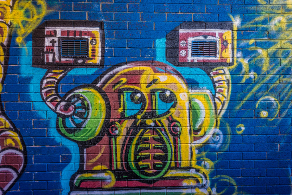 STREET ART IN DUBLIN - CABRA PARK URBAN GALLERY [A REALLY UGLY LANE]-104049
