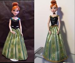 Before/After (Lena Who) Tags: anna frozen store doll dress ooak disney des reine custo coronation neiges strass poupe customisation