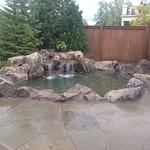 """Stone patio, rock patio, stone pavers, rock pavers, waterfall, water feature, rock waterfall, landscaping, landscape, stone, rock <a style=""""margin-left:10px; font-size:0.8em;"""" href=""""http://www.flickr.com/photos/117326093@N05/18358763771/"""" target=""""_blank"""">@flickr</a>"""