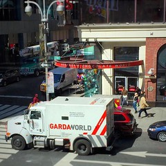 #Guard van delivering to #Hershey's Chocolate World in #timessquare. Time to vote: I think #cadbury #chocolate tastes the best. What do you think? #newyork #nyc #vote (w_cross) Tags: nyc newyork chocolate guard cadbury hersheys timessquare vote instagram ifttt