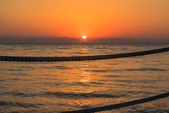 Sunrise in Antalya (Bajo Rogan) Tags: ocean trip travel sea summer vacation sun holiday reflection beach water pool swimming sunrise turkey dawn hotel pier sand nikon waves time wave rope palm antalya shore leisure nikkor kemer