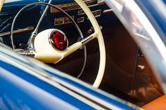 A peek inside the Rob Ida 1940 Mercury (GmanViz) Tags: color detail car nikon automobile mercury interior 1940 chrome dashboard custom coupe steeringwheel robida gmanviz d7000