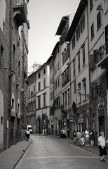 Street of Florence (sergeylebedev141) Tags: street city travel blackandwhite italy florence europe blackandwhitephotography