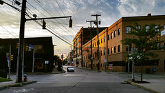 Late June Light in the City (real00) Tags: williamreal willreal 2016 2010s 2000s pittsburgh pennsylvania urban city landscape urbanlandscape alleghenycounty pittsburghregion westernpennsylvania goldenhour oakland streetscene road intersection rustbelt