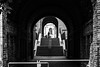 Steps and barriers / Every tunnel has two ends, some have a sunroof in the middle (Özgür Gürgey) Tags: 2016 50mm bw d750 darkcity hamburg nikon architecture shadow silhouettes steps street symmetry tunnel germany