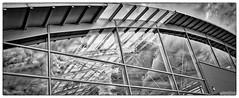 Cloud Reflection on Modern Architecture (TorstenHein) Tags: windows bw reflection monochrome architecture clouds wolken architektur monochrom audi schwarzweiss hein reflektion ricohgrii