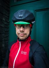 Rule No 9 Riding (Torsten Frank) Tags: girosynthe helm helmschutzhlle helmberzieher jacke kleidung kopfbedeckung radfahren radhelm radsport regen selbstportrait sportbekleidung windratherkapelle