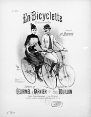 1891. En bicyclette - chansonnette - piano (foot-passenger) Tags: musicbicycle  1891  bnf bibliothquenationaledefrance bicycle