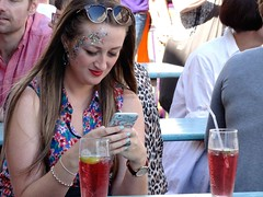 Cocktails and Dreams (*Penne*Pillswigger*) Tags: cocktails sparkles texting brighton reflections shades northlanes brightonpride2016
