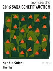 Fireflies by Sandra Sider (saqaart) Tags: artquilts saqa fiberart quilts textiles artwork stitched layered green abstractart