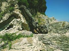 ... () Tags: sea stone corfu crag agni