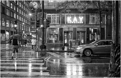 State Street (BalineseCat) Tags: street chicago rain night downtown neon state kay jewelers
