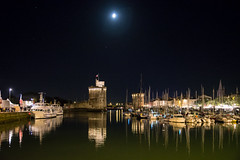 Port de La Rochelle by night (s.Glesener) Tags: larochelle port nuit night lune bateau tour france