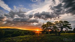 Sunset Range (doublebarrelimages) Tags: pasture storm nopeople sky clouds sunset