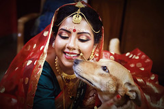 L O V E (Sandipa Malakar (bristii)) Tags: wedding red dog pet love canon bride asia affection bengali indianwedding weddingphotographer weddingplanner bengaliwedding tamron2470 culturereligion canon6d sandipamalakar sandipamalakarcom