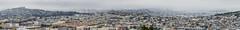 the daily fog bank slips over the city (pbo31) Tags: sanfrancisco california nikon d810 color july 2016 summer boury pbo31 bayarea city urban panoramic large stitched panorama skyline bayviewdistrict bayviewpark over view vista fog foggy overcast marine rooftops baybridge bridge 80