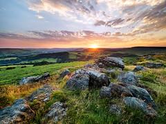 Carhead sunset (Stephen Elliott Photography) Tags: peakdistrict hopevalley derbyshire hathersage carhead rocks sunset summer olympus 714mm nisi filters