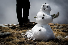 Pic de l'liga. Vall de Nria. Aquest s el Final. (guigonliz) Tags: picdelliga valldenria vall de nria valle valley tal valle  pirineu pirineo  pirenei pyrnes pyrenees queralbs girona gerona catalunya catalonia catalogna catalogne catalua  europa europe european  eaglepeak snowman mueco nieve snow man muecodenieve pupazzo di neve pupazzodineve   schneemann schnee neige bonhomme excursin trek hiking  nikon d5200  mountain montaa montanya  berg