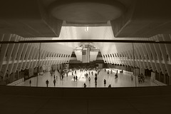 Upper Concourse, Transit Hall (sjnnyny) Tags: calatrava grandiose commuters k3ii pentax2040f2840edwrlimited touristvenue stevenj sjnnyny pathtransit newworldtradecenter lowermanhattan contemporary architectureengineering monumental symmetry