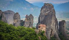 Monastery of Rousanou, Meteora (mandar_haridas) Tags: greece meteora monastery europe rousanou rousanoumonastery summer july kalambaka