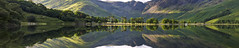 Buttermere man, Lake District. (John Finney) Tags: buttermere cumbria lakedistrict reflections symmetry northwestengland aurgust landscape panoramic green water still calm buttermeretrees