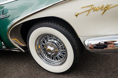 That fender trim! (GmanViz) Tags: gmanviz color car automobile detail nikon d7000 goodguysppgnationals 1960 plymouth fury 2door hardtop fender wheel whitewall tire bumper chrome badge script type