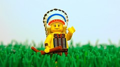 RIP Chief (legophthalmos) Tags: lego chief david bald eagle lakota american indian warrior rip