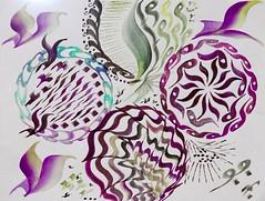 Moment de détente en couleur (valerierodriguez1) Tags: dessin encre couleur calligraphie abstrait voila arttherapie