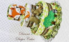 Woodland Baby Diaper Cake Shower Gift Centerpiece (2) (Dianna's Diaper Cakes) Tags: baby diaper cakes shower centerpieces gifts boys girls neutral diannas decoration