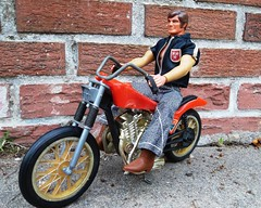 Big Jim Rugged Rider Motorcycle (atjoe1972) Tags: bigjim motorcycle mattel ruggedrider toys actionfigure seventies easyrider 1970s chopper retro vintage wheelie atjoe1972 bellbottom jeans boots 1972