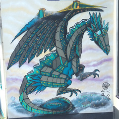Totter Dragon (andy council) Tags: andycouncil andy art architecture dragon monster mural mtn94 belton totterdown houses cliftonsuspensionbridge bristol spraypaint streetart