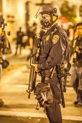 Oakland 2010 (Thomas Hawk) Tags: chp california californiahighwaypatrol eastbay johannesmersehle oakland oaklandriots oaklandriots2010 oscargrant usa unitedstates unitedstatesofamerica cop cops gasmask gun oaklandca070810 police protest riot riots fav10