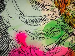 DSC0966848 (scott_waterman) Tags: scottwaterman painting paper ink watercolor gouache lotus lotusflower detail