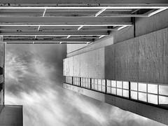 Up- B&W (Mac McCreery) Tags: digbeth birminghamuk sky blackandwhite monochrome architecture building pentaxk5iis sigma1770dcmacro