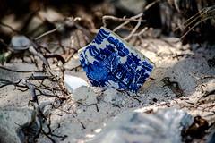 a neat find (-gregg-) Tags: broken china beach bahamas sand sun light shadows different