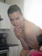 Denisa (Bruce M Walker) Tags: veilingflare soft morning kitchen portrait mood moody contemplative woman czechmodel pentaxart