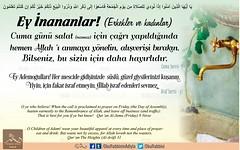 Kerim Kur'an - 62-9. (Oku Rabbinin Adiyla) Tags: allah kuran quran islam ayet verse god religion bible muslim pray mosque cuma