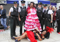 Law And Disorder ! (James Whorriskey (Delbert Jackson)) Tags: jameswhorriskey jameswhoriskey delbertjackson derry londonderry uk ulster ireland northernireland photo photograph photographer picture aroundus impressionsexpressions catchycolors jameswhorriskeyphotography colour psni foyle pride follies drag queen 2016 lgbt guildhall square parade queens