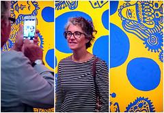 Triptych (Dale Michelsohn) Tags: moderna triptych yayoikusama exhibition dalemichelsohn canon g5x powershot photoshop art