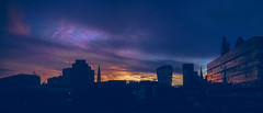 London sunset panorama